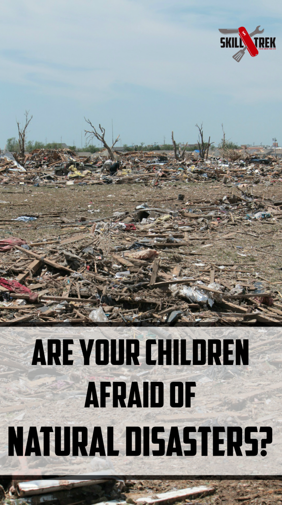 Is your family prepared for a natural disaster? If left unprepared our children can fear natural disasters and wonder what would happen if one hit. Alleviate fear with a plan for a natural disaster
