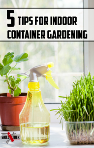 No outdoor space for a garden? Consider starting a garden indoors! Here are 5 tips to help you begin indoor container gardening today.