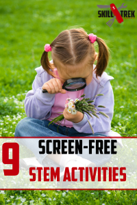 Are you looking for screen-free activities for your kids? Here are 9 awesome screen-free activities you can do at home. Bonus? They are STEM-related and we all know how important that is!
