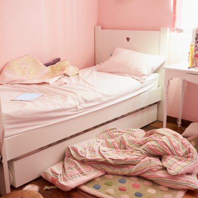 Encourage your kids to clean up their bedroom with these tips for organizing a bedroom.