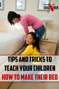 Is your child struggling with how to make their bed? Here are some tips and tricks to teach your children how to make their bed successfully and in a fun way!