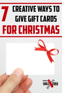 Gift cards are a great gift this holiday season. But, they aren't exactly creative to give right? Not anymore! Here are some fun creative ways to give gift cards this holiday season. Just one of the 12 skills of Christmas!