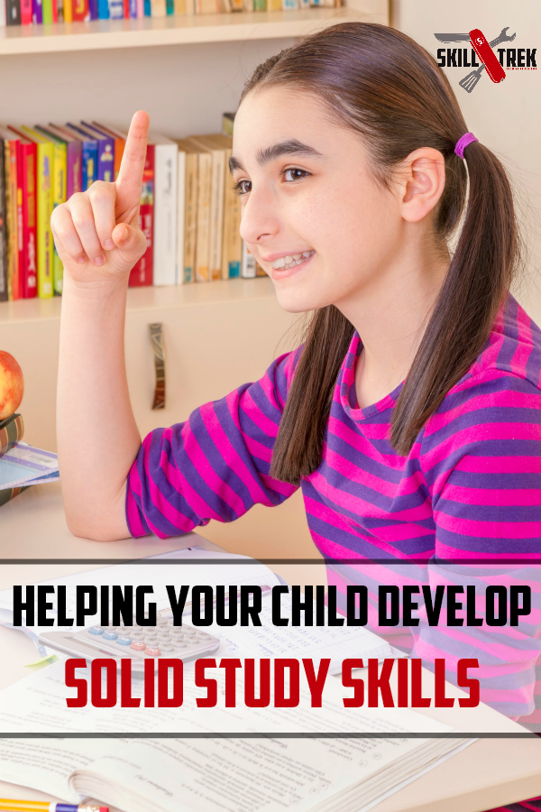 Teaching our children solid study skills is a very important life skill. Learning this skill now will serve them throughout their education career. Here are some strategies to help your child develop strong study skills.
