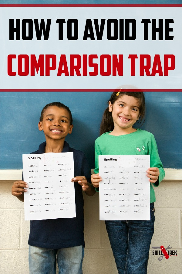 The comparison trap is dangerous. For us, and our kids.  Have you noticed your kids getting sucked into the comparison trap? If so, here are a few tips to help them get out